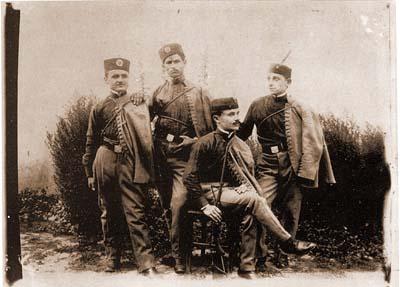Чланови соколског друштва око 1910. године, Крагујевац