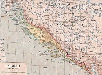 Karta dalmacija Karta Južne